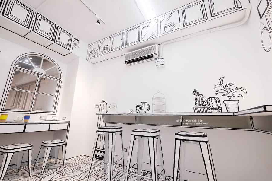 20180710163717 30 - Goddess Cafe│走進漫畫世界裡,超酷的2D黑白漫畫感咖啡廳