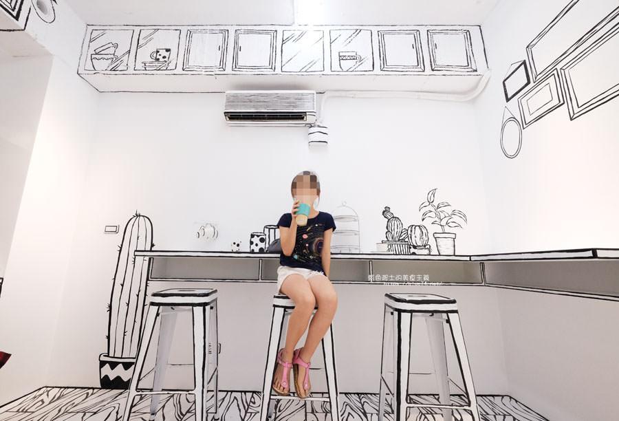 20180710163721 26 - Goddess Cafe│走進漫畫世界裡,超酷的2D黑白漫畫感咖啡廳