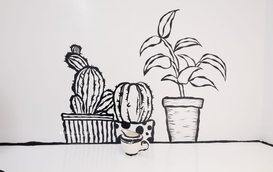 20180710163723 63 - Goddess Cafe│走進漫畫世界裡,超酷的2D黑白漫畫感咖啡廳