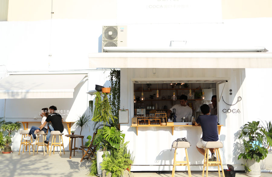 新竹竹北│渴口手沖咖啡-高鐵旁白色系貨櫃手沖咖啡外帶吧,IG拍照熱門打卡點,也太好拍了吧
