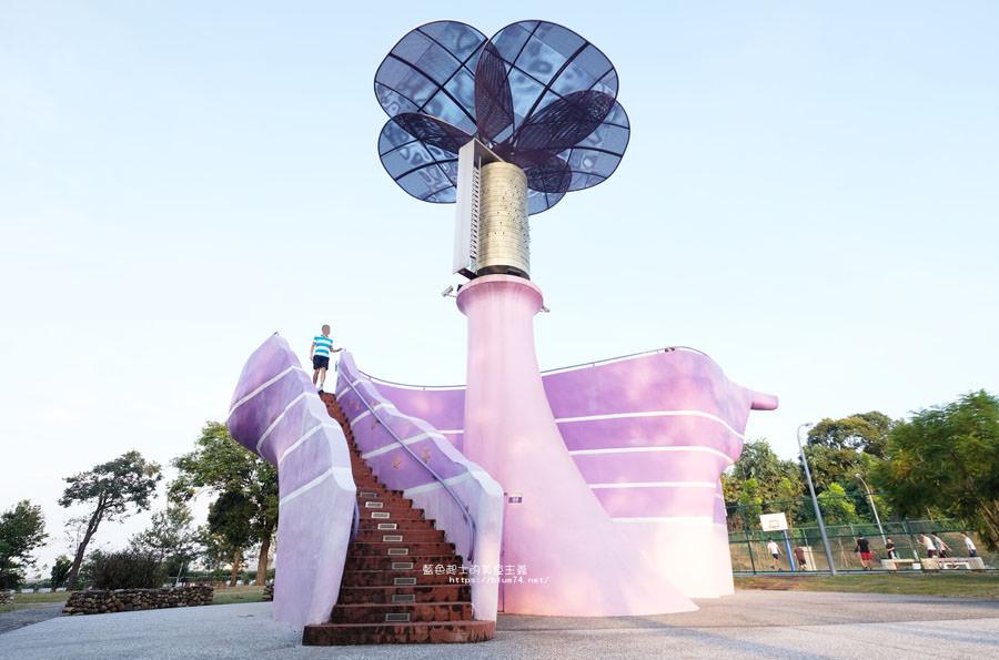 台中新社│星願紫風車-新社必拍紫色浪漫打卡景點,結合幸福跟夢想的大型音樂盒