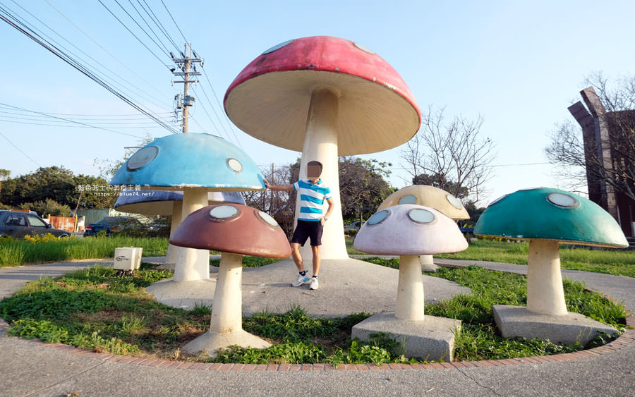 台中新社│新社彩色蘑菇群-小小IG打卡點,可愛蘑菇拍照地標