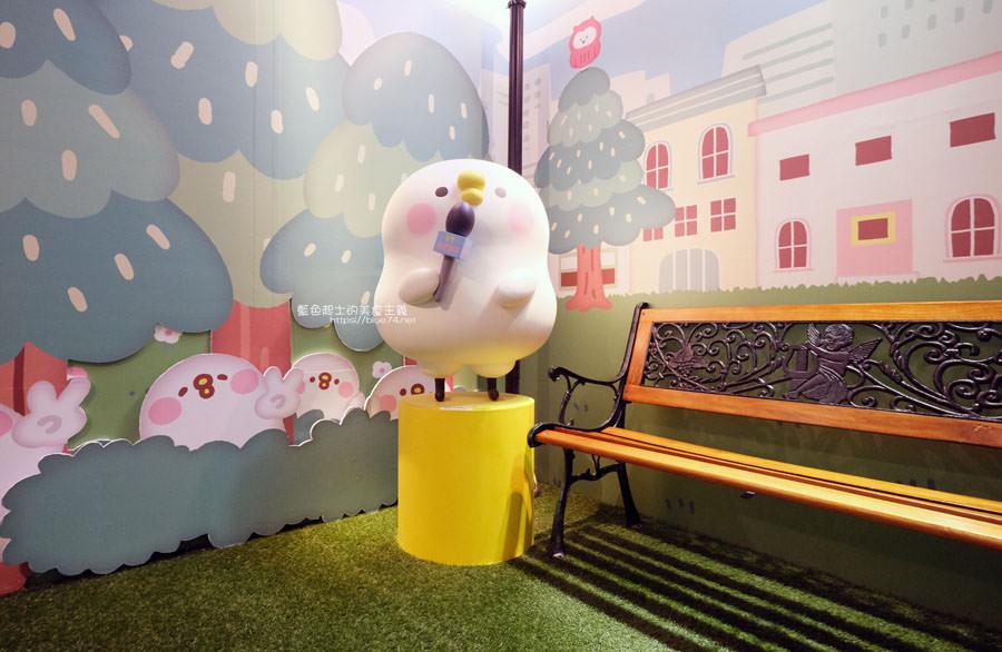 20190213024109 17 - 日本超人氣貼圖粉紅兔兔與P助來台中囉,療癒可愛牛奶粉色系卡娜赫拉首座大型個展