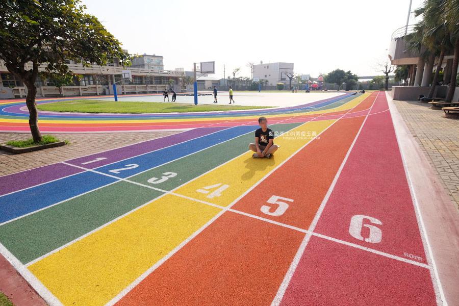20190401003018 13 - 高美國小-海線最美的跑道,繽紛彩虹跑道IG最新打卡點