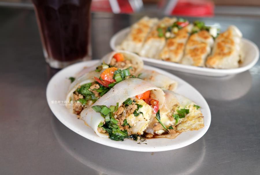 20190516155434 39 - 幸福廚房早午餐-內餡滿到爆出來的打拋豬河粉,鍋貼也來一份,超飽超滿足,近審計新村
