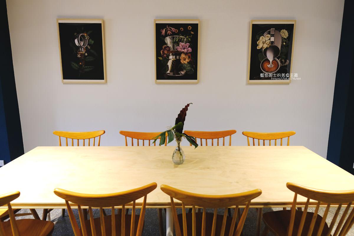 20191019124349 42 - 孔雀咖啡-柳川旁迷人的孔雀藍色調咖啡館,還有可愛圓滾滾鬆餅球