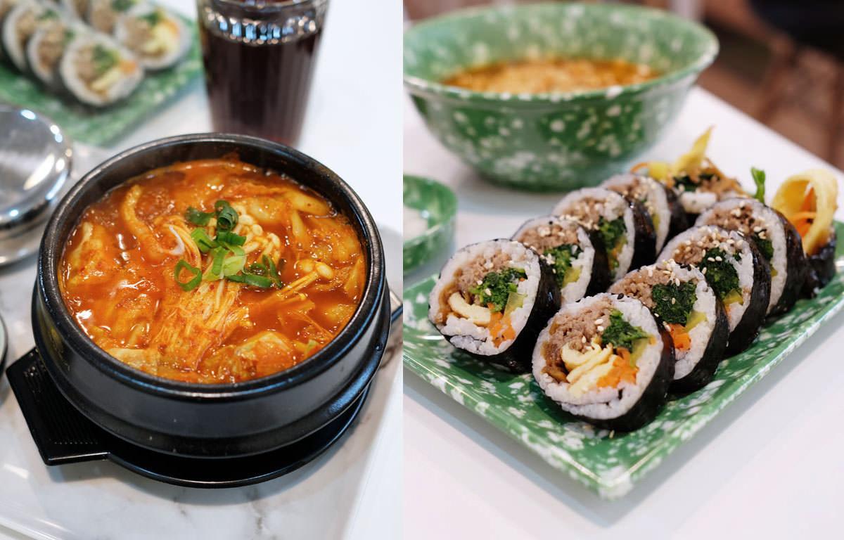 台中西區│首爾飯桌-首爾的早晨第二店,韓式飯捲、鍋物和拉麵,台中教育大學商圈美食
