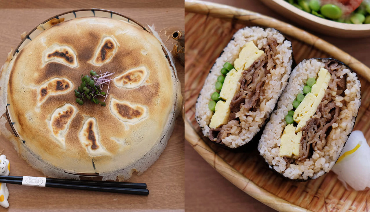 台中西屯│DOUZO-逢甲商圈日式早午餐,有煎餃、三明治和四角飯糰,日式下午茶也有喔