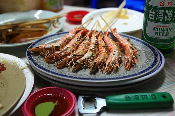 烤蝦,一份7尾