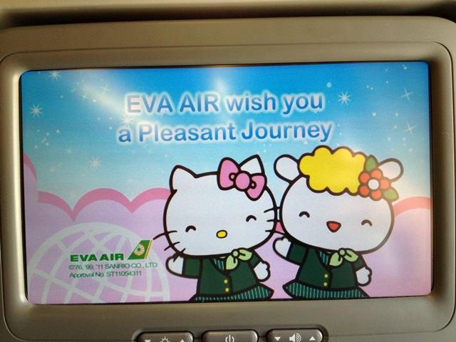 【13 秋日.楓遊東京 】- 長榮Kitty班機 & Kitty兒童餐也太豐盛了吧~