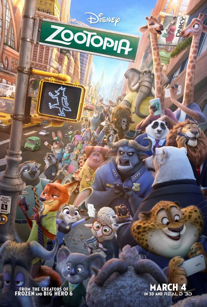 Movie, Zootopia(美國) / 動物方城市(台) / 疯狂动物城 (中) / 優獸大都會(港), 電影海報, 美國