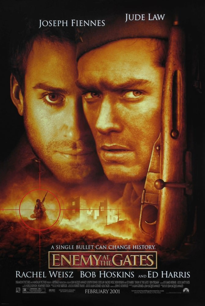 Movie, Enemy at the Gates(美國) / 大敵當前(台) / 敵對邊緣(港) / 决战中的较量(中), 電影海報, 美國