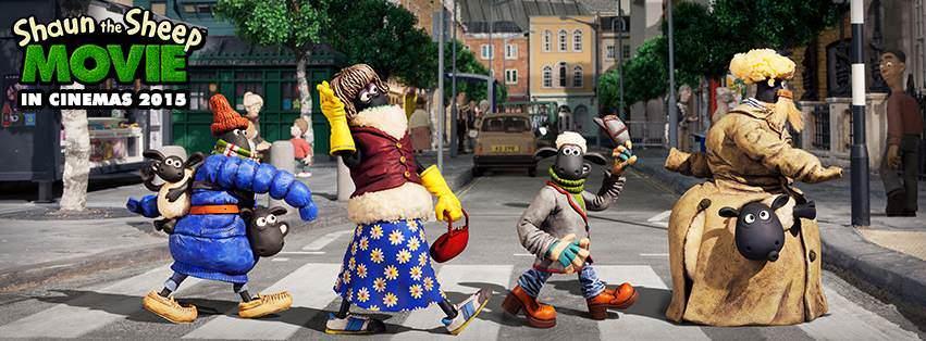 Movie, Movie, Shaun the Sheep Movie / 笑笑羊大電影 / 小羊肖恩 / 超級無敵羊咩咩大電影之咩最勁, 電影海報, 英國, 橫式
