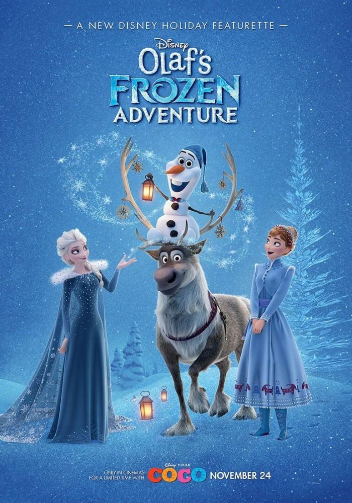 Movie, Olaf's Frozen Adventur(美國) / 雪寶的佳節冒險(台) / 雪宝的冰雪大冒险(網), 電影海報, 美國