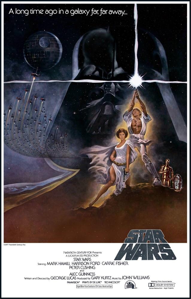 Movie, Star Wars Episode IV: A New Hope(美國) / 星際大戰四部曲:曙光乍現(台) / 星球大战IV:新希望(中) / 星球大戰:新的希望(港), 電影海報, 美國