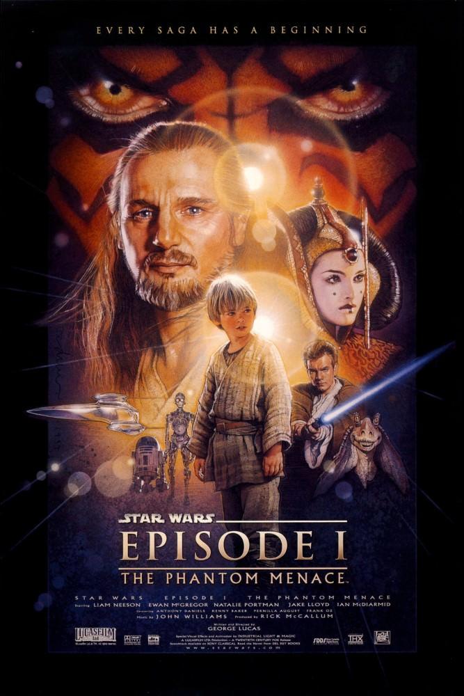 Movie, Star Wars: Episode I - The Phantom Menace(美國) / 星際大戰首部曲:威脅潛伏(台) / 星球大战前传:幽灵的威胁(中) / 星球大戰前傳:魅影危機(港), 電影海報, 美國