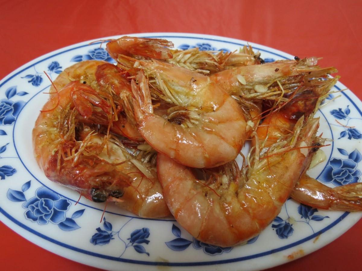 巷仔內烏骨雞海鮮攤, 餐點, 鮮蝦