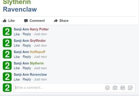 Facebook, 塗鴉牆, 哈利波特魔法煙火