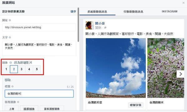 臉書 Facebook, 粉絲專頁, 付費推廣, 推廣網站