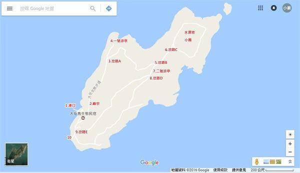 大坵島, 大坵島地圖
