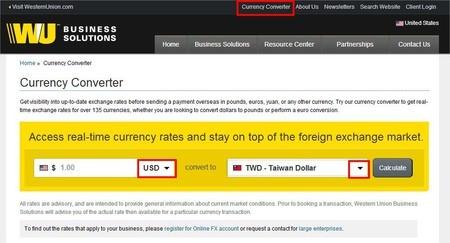網路廣告賺錢, Google AdSense, 西聯匯款, 即時匯率查詢