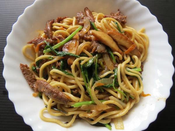 食譜, 沙茶牛肉炒麵