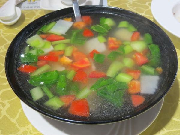 飲飽食醉, 餐點, 五行蔬菜湯