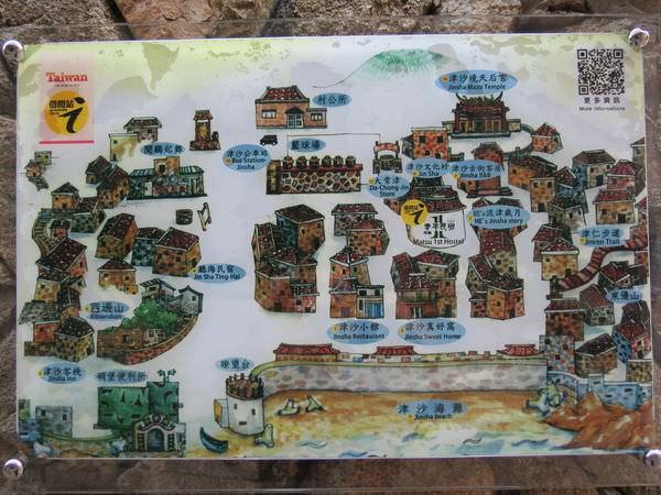 連江縣, 南竿鄉, 津沙村, 民宿地圖