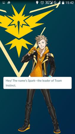 APP, Pokémon GO, 隊伍, 黃隊