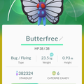 APP, Pokémon GO, 寶可夢資料, #012 巴大蝶/Butterfree