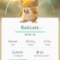APP, Pokémon GO, 寶可夢資料, #020 拉達/Raticate