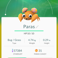 APP, Pokémon GO, 寶可夢資料, #046 派拉斯/Paras