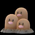 APP, Pokémon GO, 寶可夢圖片, #051三地鼠/Dugtrio