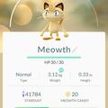 APP, Pokémon GO, 寶可夢資料, #052 喵喵/Meowth