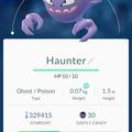 APP, Pokémon GO, 寶可夢資料, #093 鬼斯通/Haunter