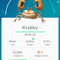 APP, Pokémon GO, 寶可夢資料, #098 大鉗蟹/Krabby