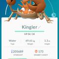 APP, Pokémon GO, 寶可夢資料, #099 巨鉗蟹/Kingler
