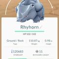 APP, Pokémon GO, 寶可夢資料, #111 鐵甲犀牛/Rhyhorn