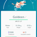 APP, Pokémon GO, 寶可夢資料, #118 角金魚/Goldeen