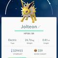 APP, Pokémon GO, 寶可夢資料, #135 雷伊布/Jolteon