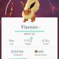APP, Pokémon GO, 寶可夢資料, #136 火伊布/Flareon