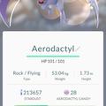 APP, Pokémon GO, 寶可夢資料, #142 化石翼龍/Aerodactyl