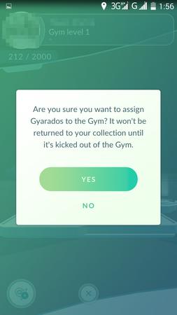 App, Pokémon GO, 道館, 插旗