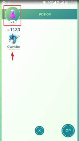 APP, Pokémon GO, 物品, 藥水/Potion