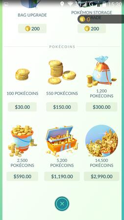 APP, Pokémon GO, 商店