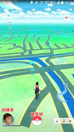 APP, Pokémon GO, 遊戲介面01