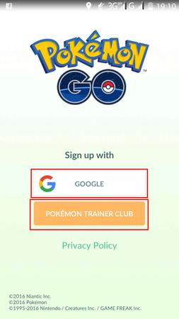 APP, Pokémon GO, 帳號註冊01