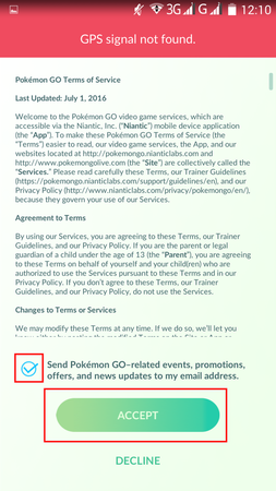 APP, Pokémon GO, 帳號註冊11