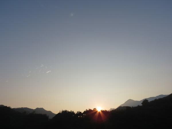 關子嶺, 日出