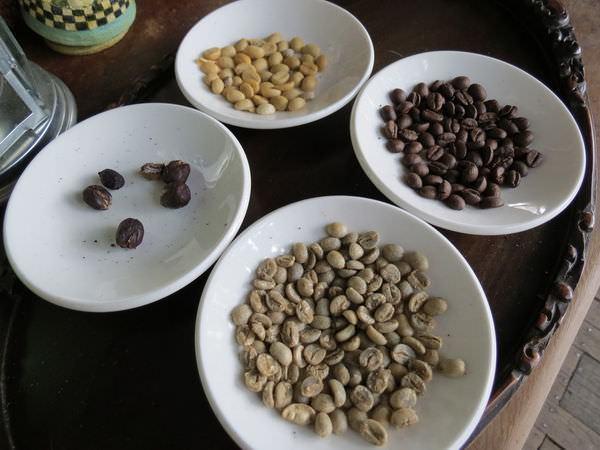 大鋤花間咖啡生態農場, 裝潢佈置, 咖啡豆